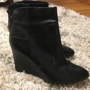 Nine West Honesty wedge black ankle booties